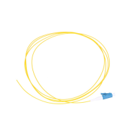 Pigtail LC/UPC PVC, Single mode, 900um G.652D 1m