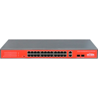PoE 24 Port Switch 100Mbps + 2 Gigabit Ports + 2 SFP Unmanaged