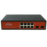 PoE 8 Port Switch Gigabit 48V + 2SFP Unmanaged